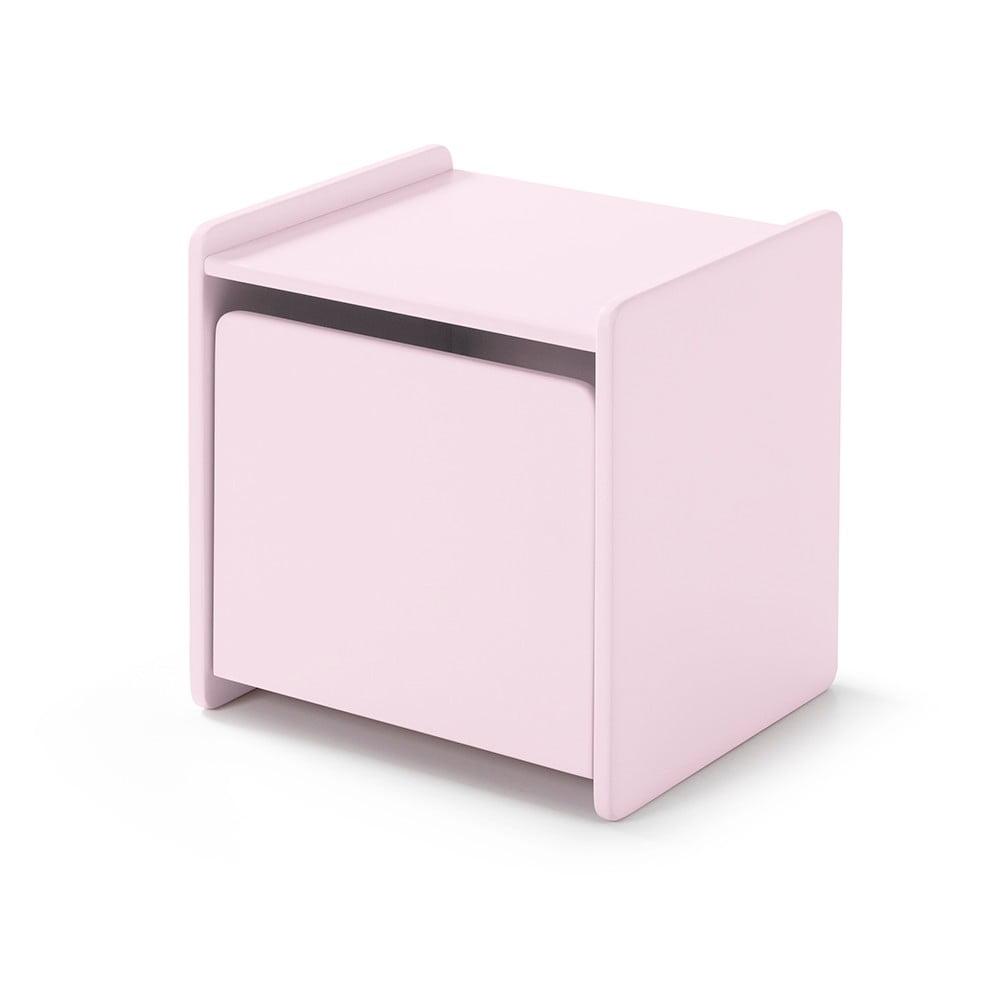 Růžový noční stolek Vipack Kiddy Vipack