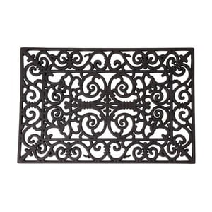Gumová obdélníková rohožka Esschert Design Ornamental