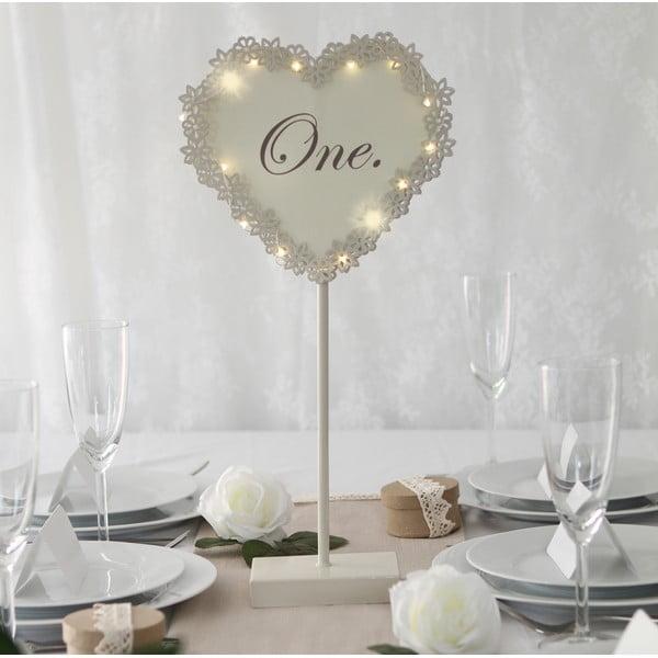 Svatební dekorace na stůl s LED světly One