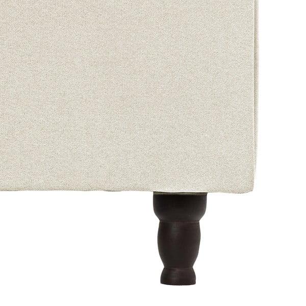 Krémová postel s černými nohami Vivonita Allon,140x200cm