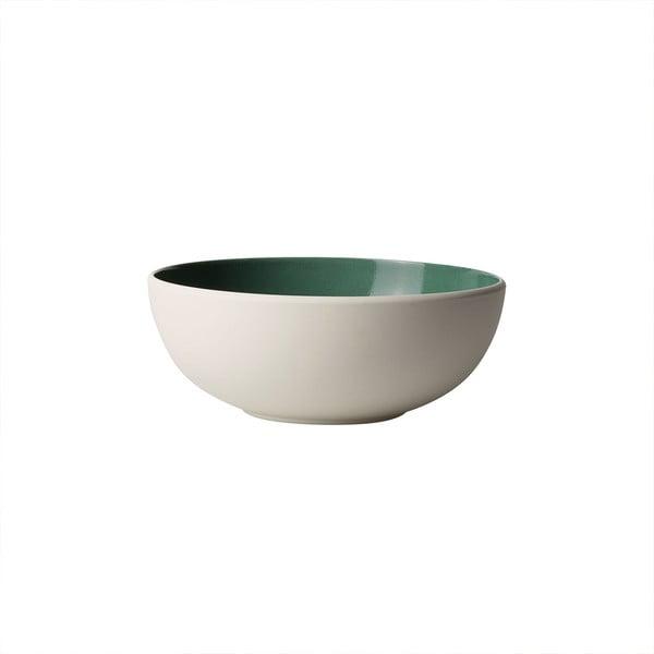 Bílo-zelená porcelánová miska Villeroy & Boch Uni, 850 ml