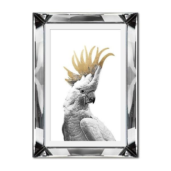 Nástěnný obraz JohnsonStyle The Golden Cockatoo, 31 x 41 cm