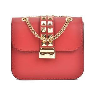 Červená kožená kabelka Sofia Cardoni Light