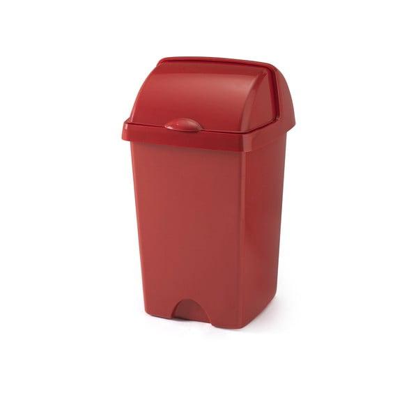 Väčší červený odpadkový kôš Addis Roll Top, 31 x 30 x 52,5 cm