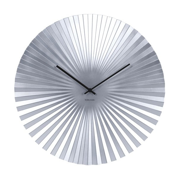 Ceas Karlsson Sensu, Ø 50 cm, argintiu