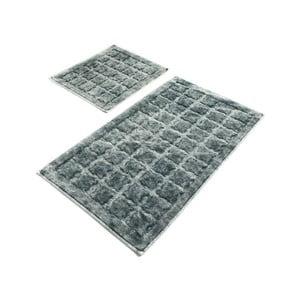 Sada 2 šedých bavlněných koupelnových předložek Confetti Bathmats Jean Grey