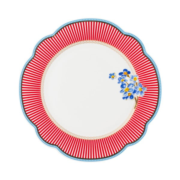 Porcelánový talíř Happy od Lisbeth Dahl, 19 cm, 4 ks