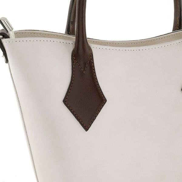 Kožená kabelka Teggie White