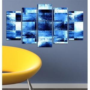 5dílný obraz Abstraktní modrá