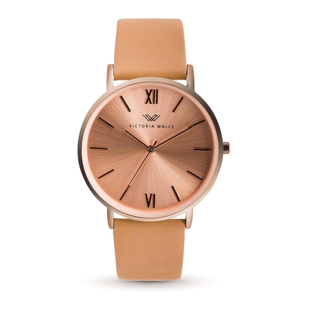 Dámské hodinky s hnědým koženým řemínkem Victoria Walls Zito
