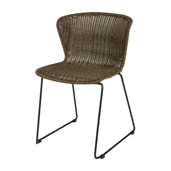 Sada 2 hnědých židlí De Eekhoorn Wings Nature