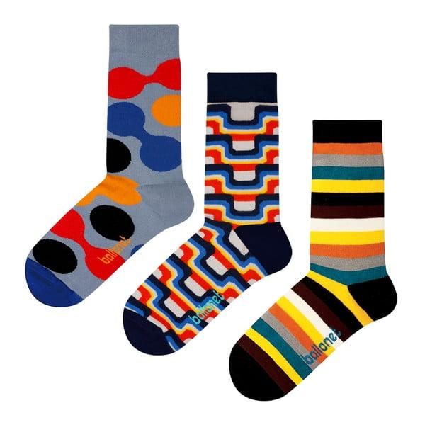 Set 3 párov ponožiek Ballonet Socks The 70s v darčekovom balení, veľkosť 36 - 40