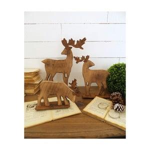 Sada 3 dekorativních dřevěných sobů Orchidea Milano Deers Malo