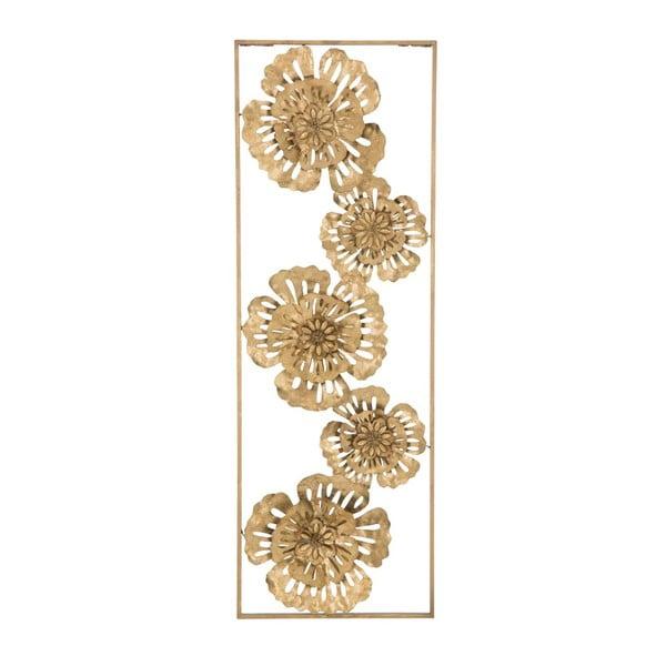 Železná nástěnná dekorace ve zlaté barvě Mauro Ferretti Luxy Nature