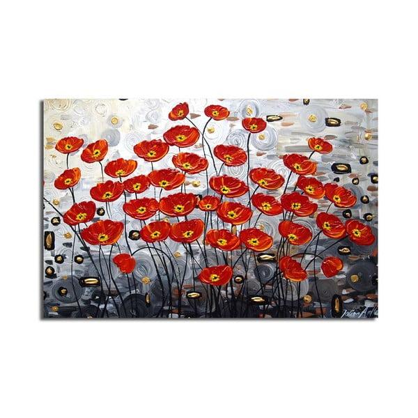 Obraz na plátně Poppy Field, 70x45cm
