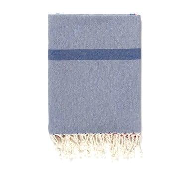 Prosop de plajă Kate Louise Cotton Collection Line, 100 x 180 cm, albastru-gri-roz de la Kate Louise