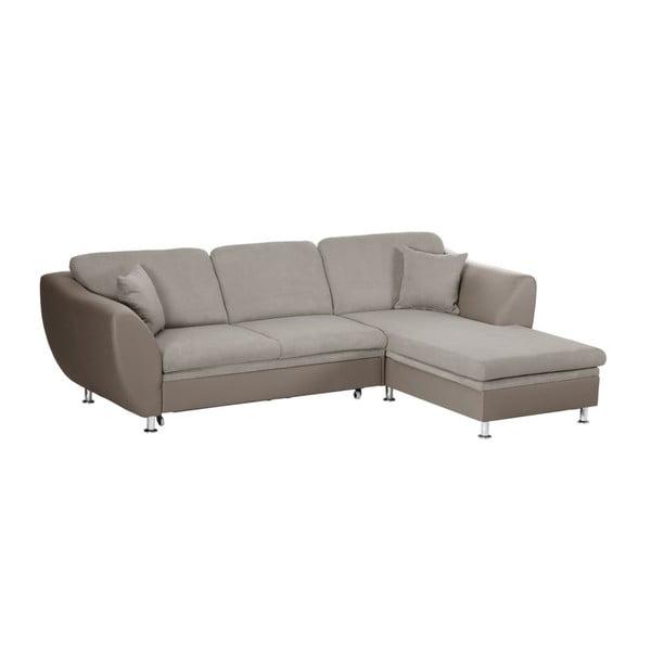 Canapea extensibilă cu șezlong pe partea dreaptă Florenzzi Maderna, bej