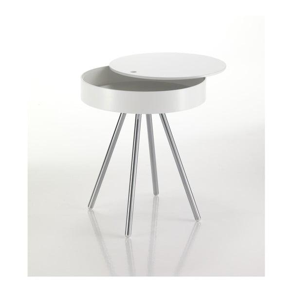 Bílý odkládací stolek se snímatelnou deskou Tomasucci Spok