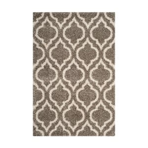 Šedohnědý koberec Safavieh Mati, 154 x 228cm