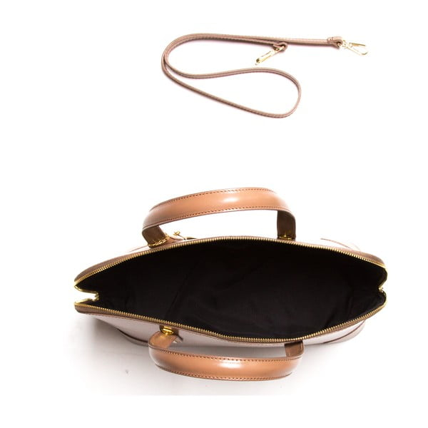 Kožená kabelka Luisa Vanini 364 Fango