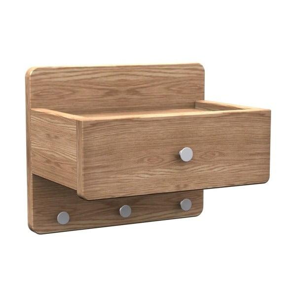 Półka z drewna dębowego Rowico Tram