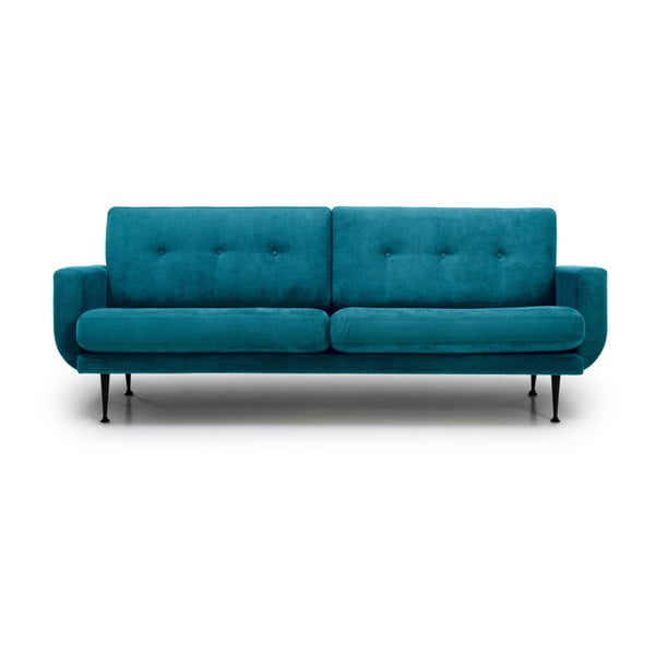 Turkusowa sofa 3-osobowa Softnord Fly
