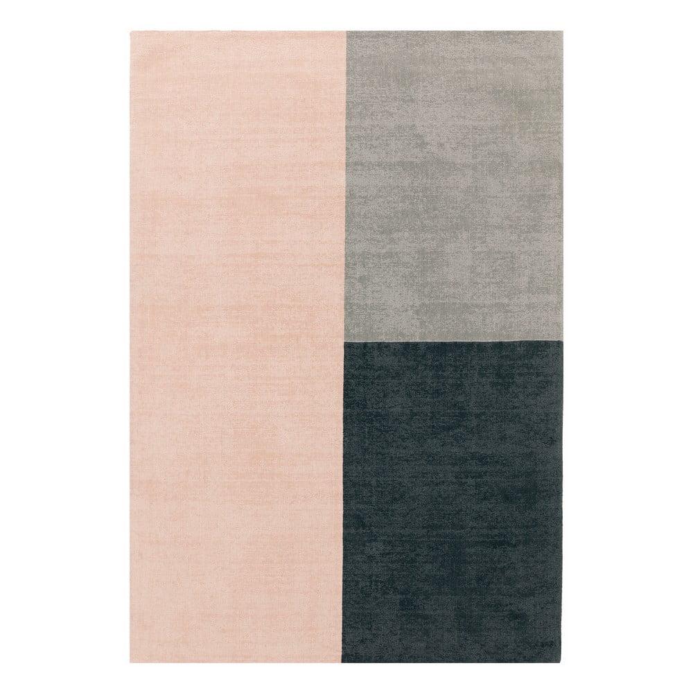 Růžovo-šedý koberec Asiatic Carpets Blox, 160 x 230 cm
