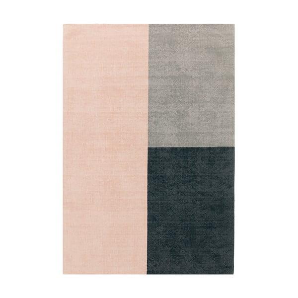 Růžovo-šedý koberec Asiatic Carpets Blox, 120 x 170 cm