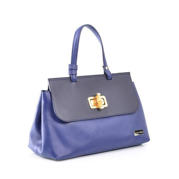 Kožená kabelka Isaure, modrá
