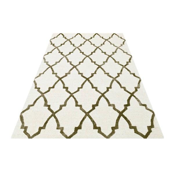 Ručně tkaný koberec Kohinoor, 153x244 cm, béžový