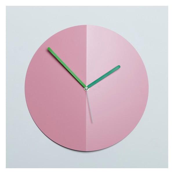 Nástěnné hodiny Mountain Fold, růžové