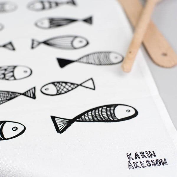 Utěrka Karin Åkesson Design Fish, 48x78 cm