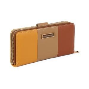 Béžová peněženka z koženky Laura Ashley Oceana