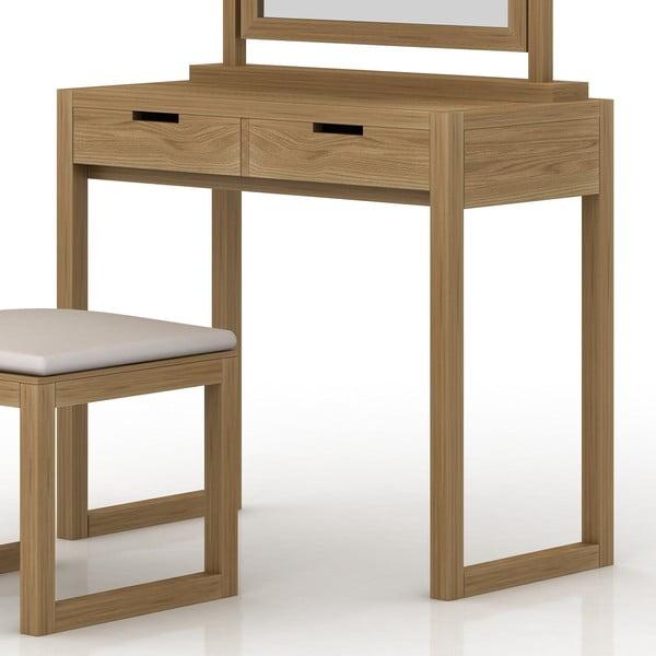 Toaletní stolek z dubového dřeva Fornestas Sims