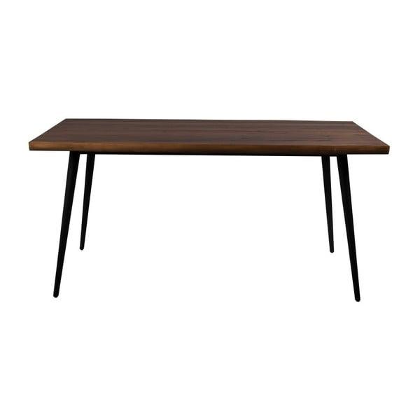 Jedálenský stôl s čiernymi oceľovými nohami Dutchbone Alagon Land, 160 x 91 cm