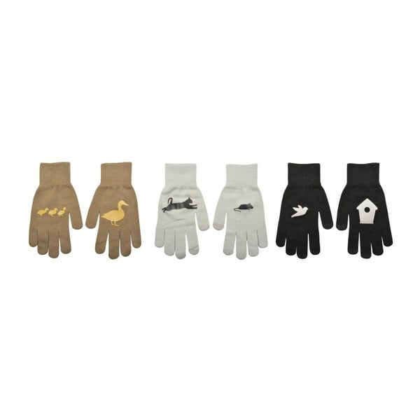 Sada 3 párů rukavic na dotykové telefony Esschert Design