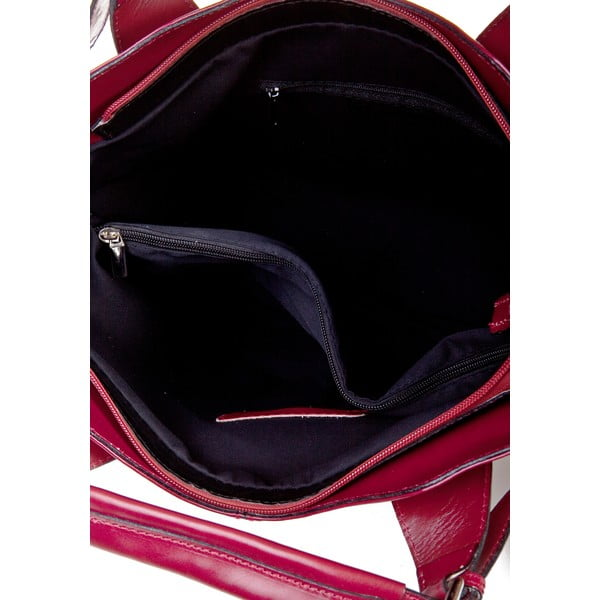 Kožená kabelka Valeria, červená