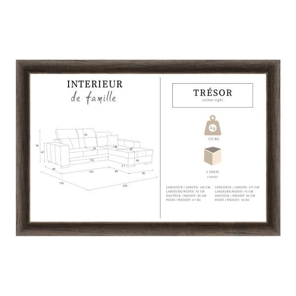 Hnědá sedačka Interieur De Famille Paris Tresor, pravý roh
