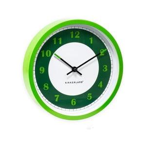 Zeleno-bílé nástěnné hodiny Kikkerland Time