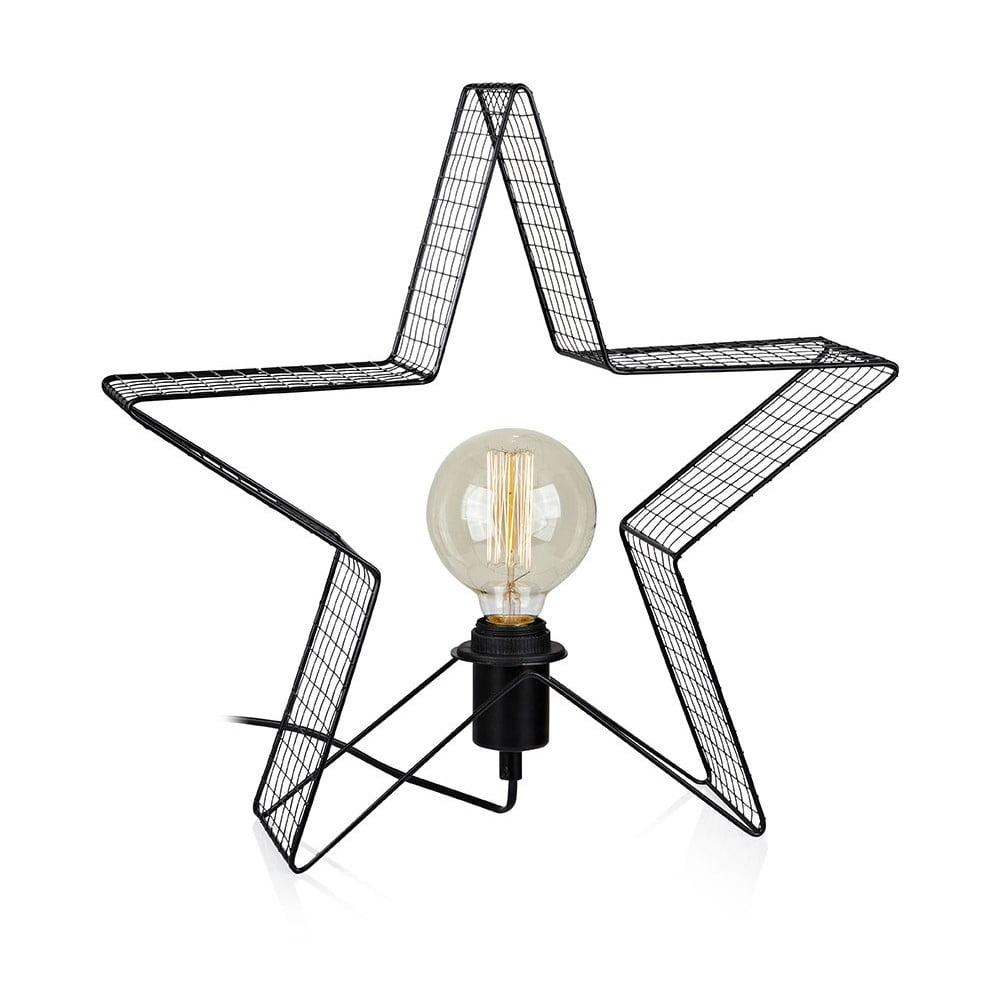 Svítící LED dekorace Markslöjd Holber Star Black