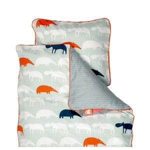 Lenjerie de pat pentru copii Done By Deer Zoopreme, 80 x 100 cm, albastru
