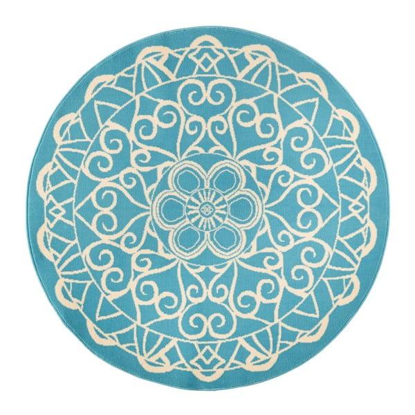 Modrý kulatý koberec Zala Living Capri,ø200cm