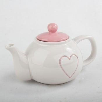Ceainic din ceramică cu capac roz Dakls, 1l de la Dakls
