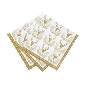 Sada 20 ubrousků Talking Tables Party Porcelain Gold