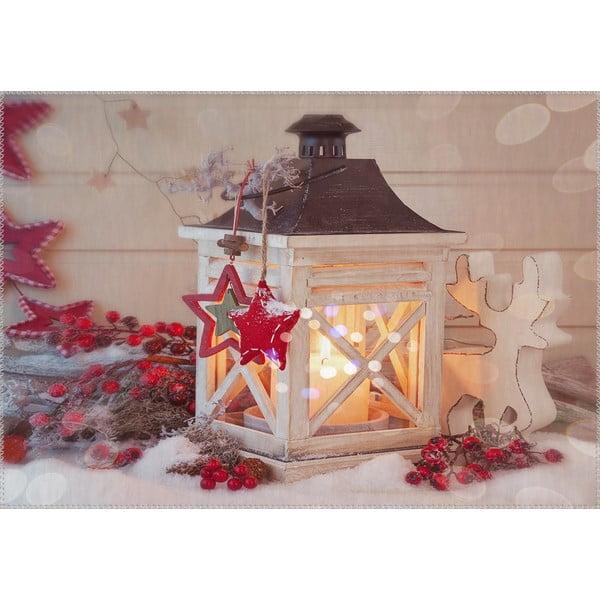 Koberec Vitaus Vianočné obdobie Malá lampáška, 50 x 80 cm