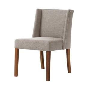 Šedohnědá židle s tmavě hnědými nohami z bukového dřeva Ted Lapidus Maison Zeste