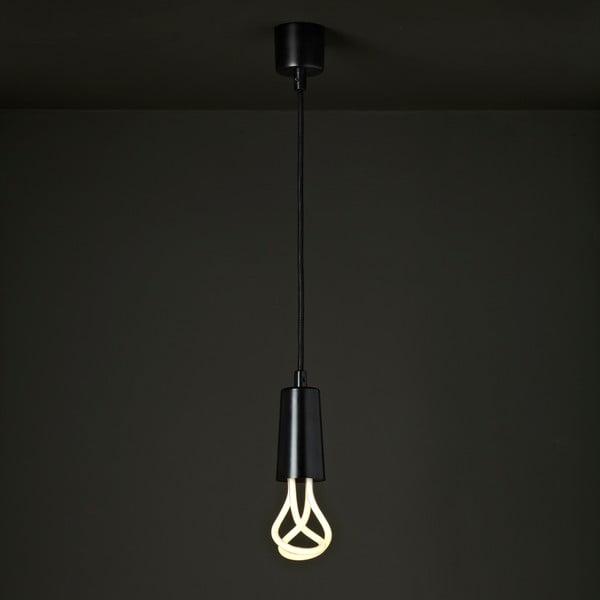 Set závěsného kabelu Drop Cap Black a úsporné žárovky Plumen