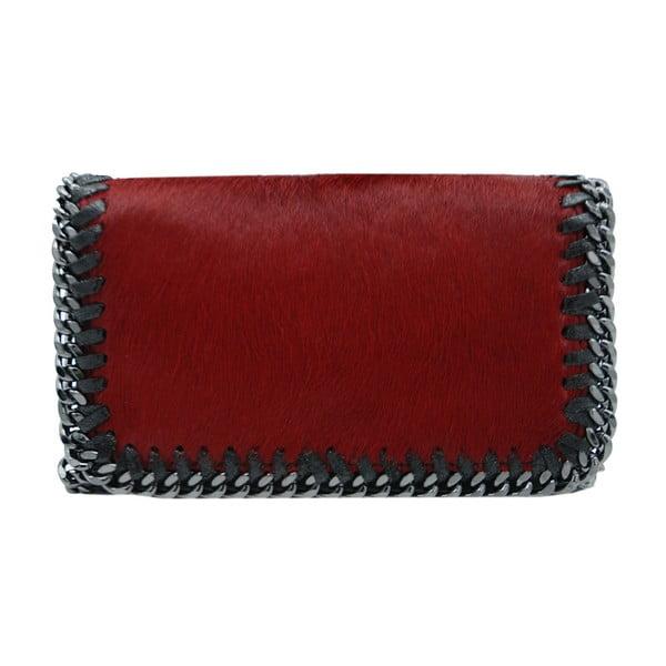 Tmavočervená kabelka / listová kabelka z pravej kože Andrea Cardone Luno