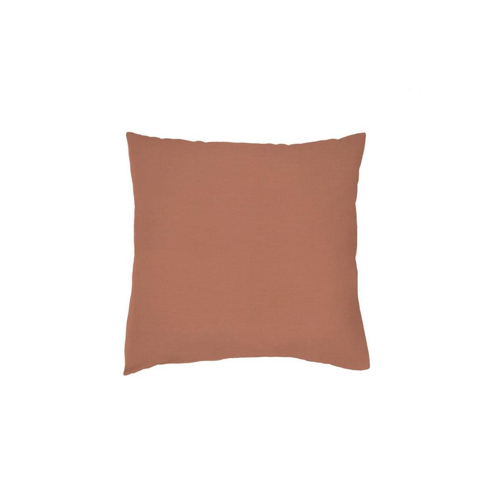 Sada 2 cihlově červených povlaků na polštář z bavlněného perkálu L'Officiel Interiors Les Essentiels, 80 x 80 cm