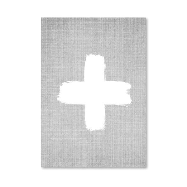 Plakát Cross On Grey